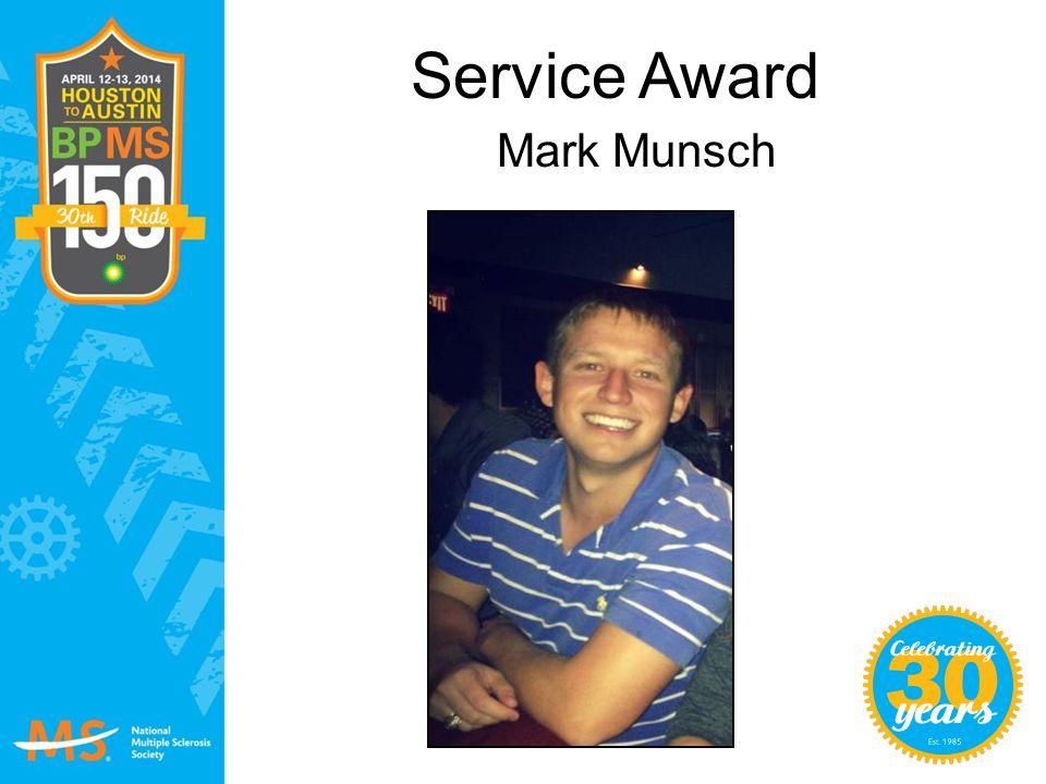 Service Award Mark Munsch