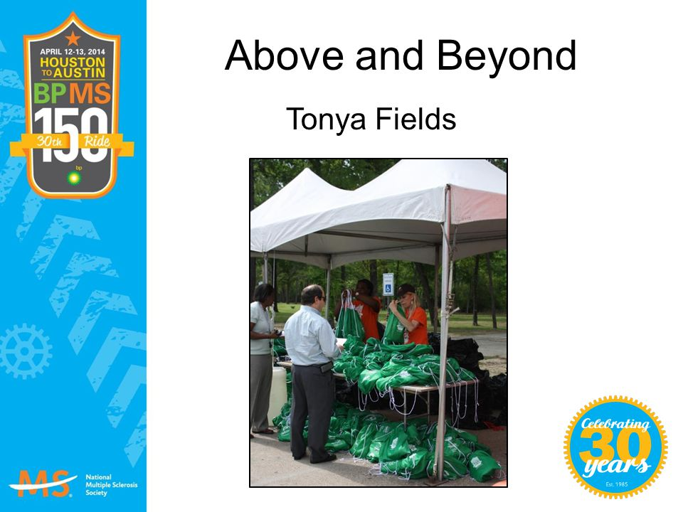 Above and Beyond Tonya Fields