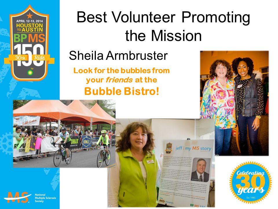 Best Volunteer Promoting the Mission