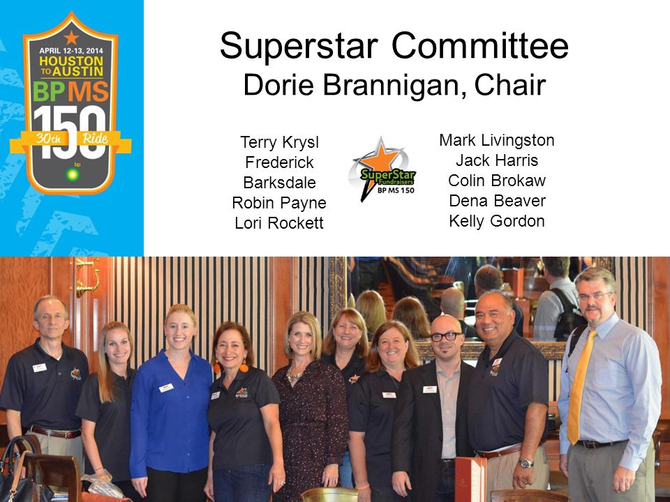 Superstar Committee Dorie Brannigan, Chair