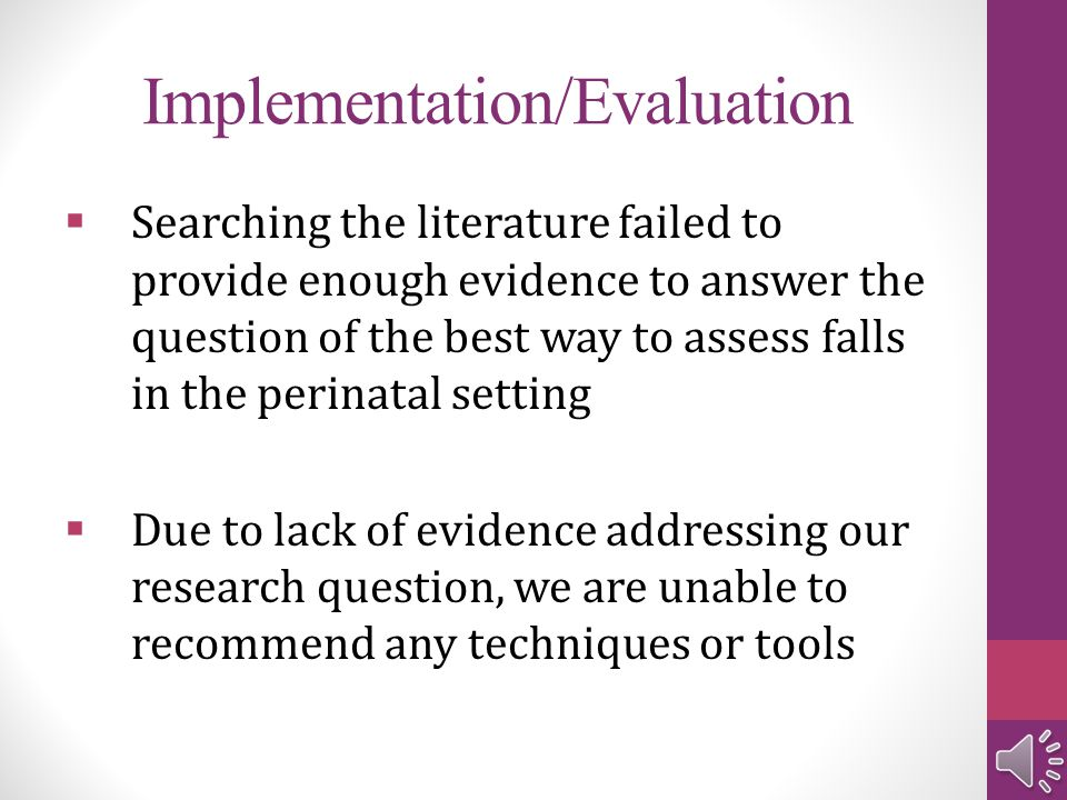 Implementation/Evaluation