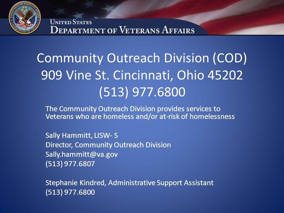 Community Outreach Division (COD) 909 Vine St