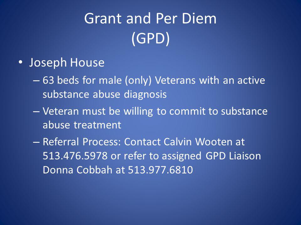 Grant and Per Diem (GPD)
