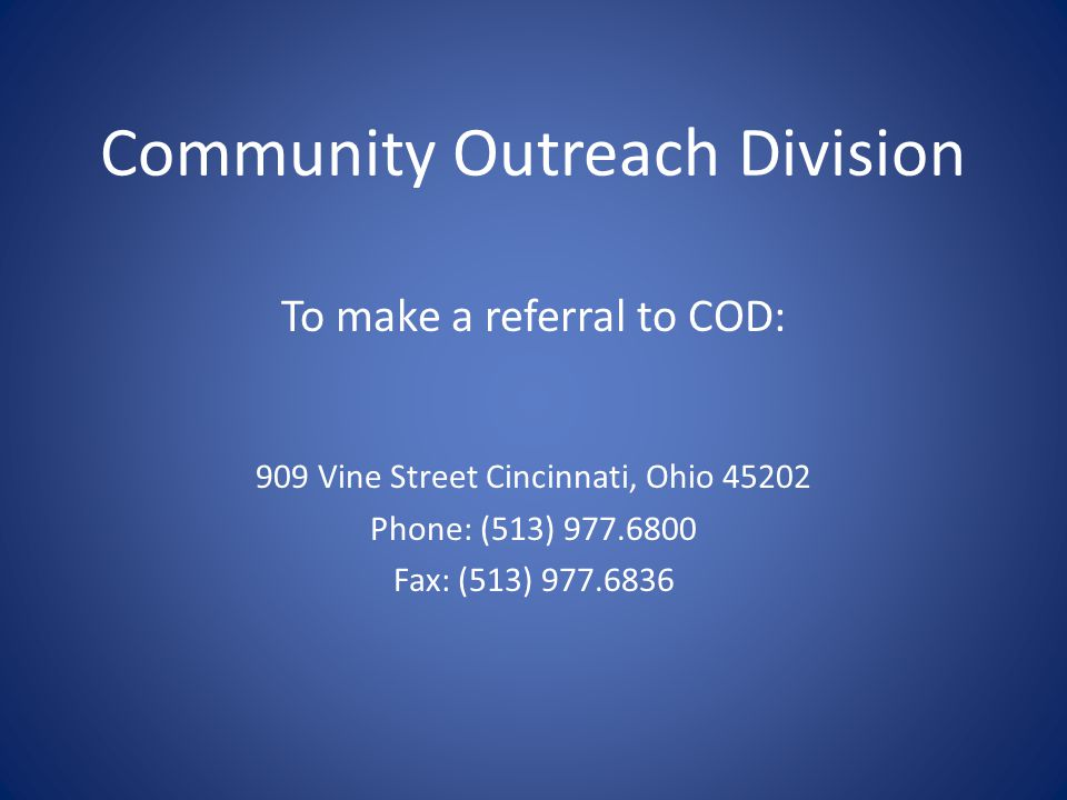Community Outreach Division