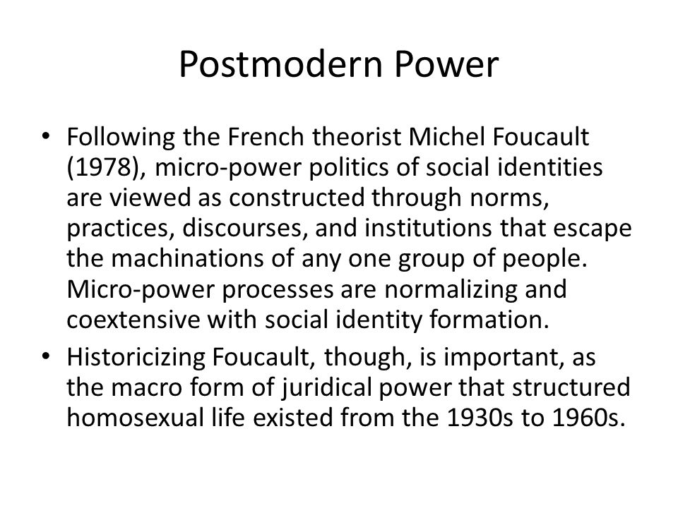 Postmodern Power