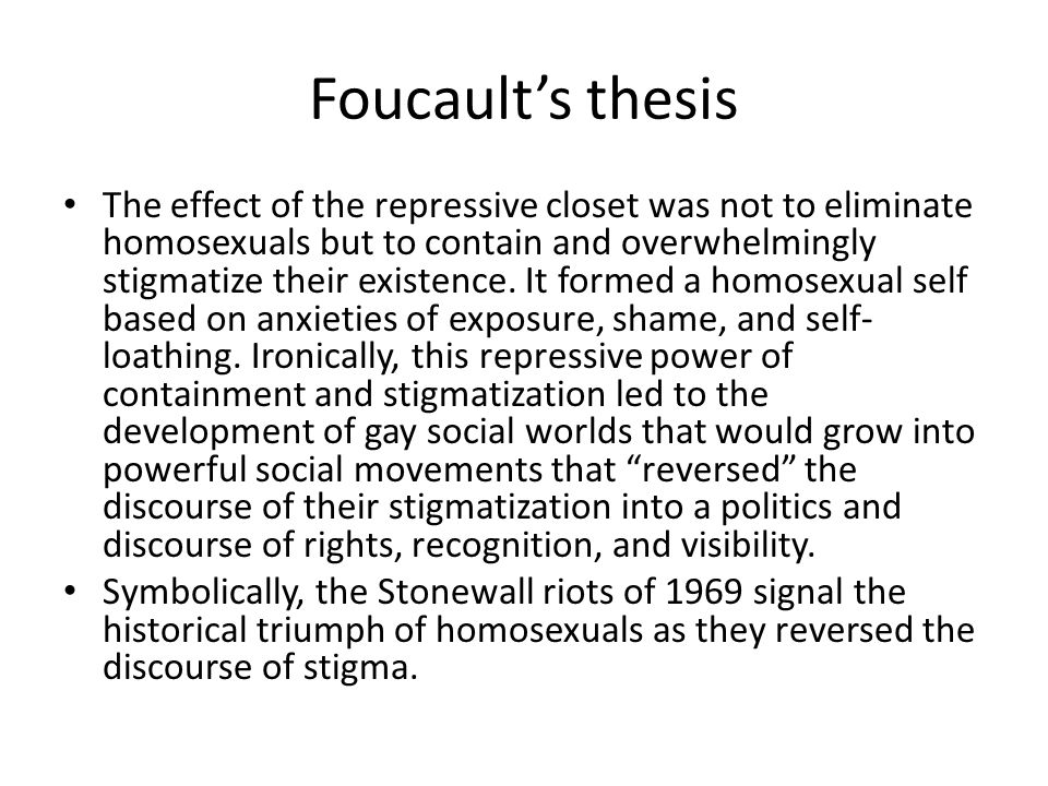 Foucault's thesis