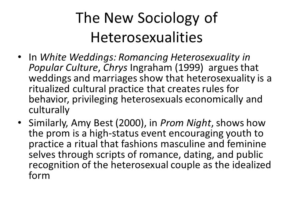 The New Sociology of Heterosexualities