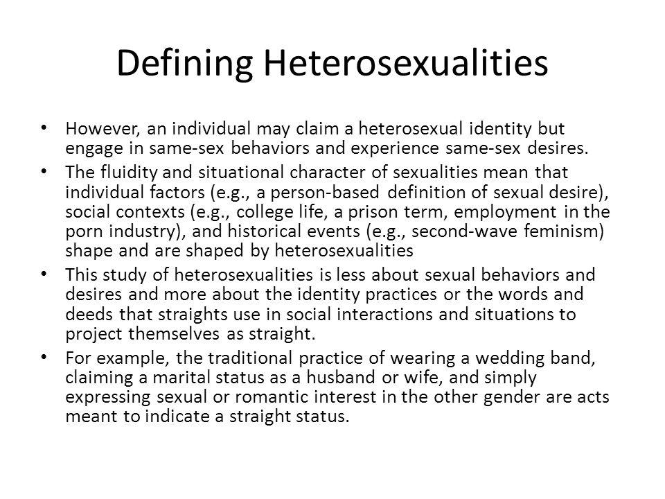 Defining Heterosexualities
