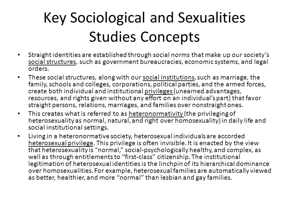 Key Sociological and Sexualities Studies Concepts