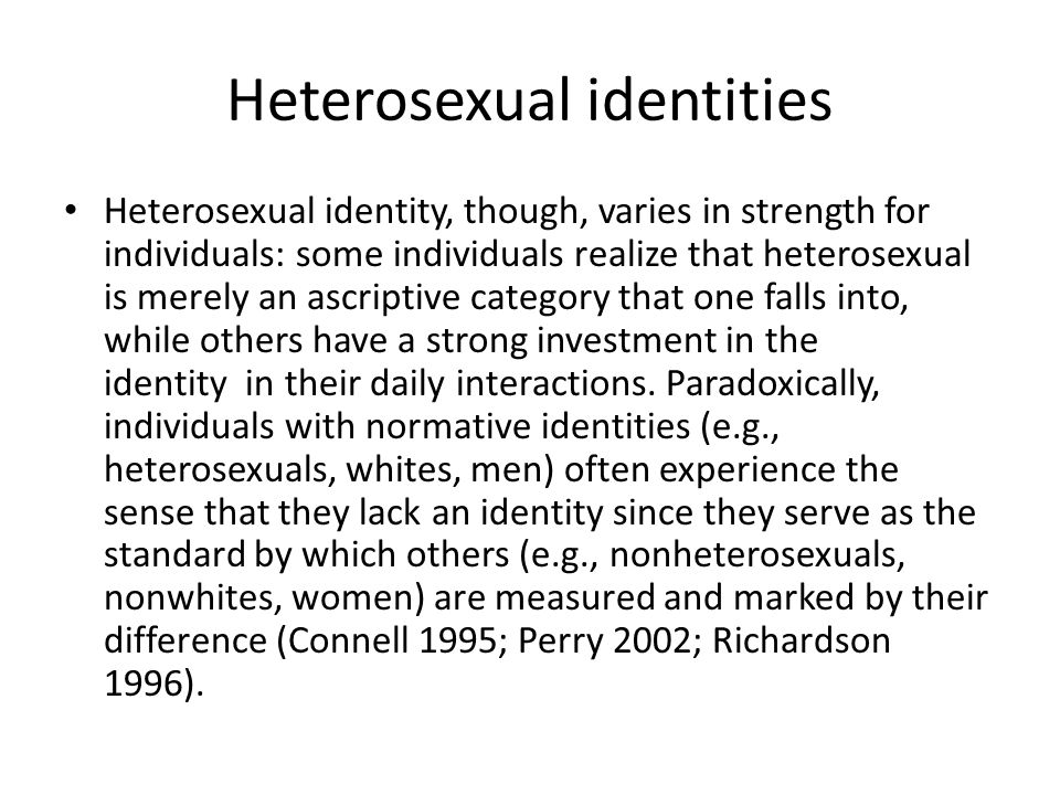 Heterosexual identities
