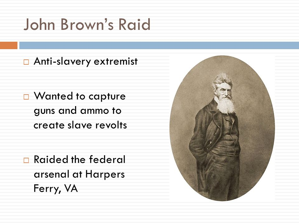 John Brown's Raid Anti-slavery extremist