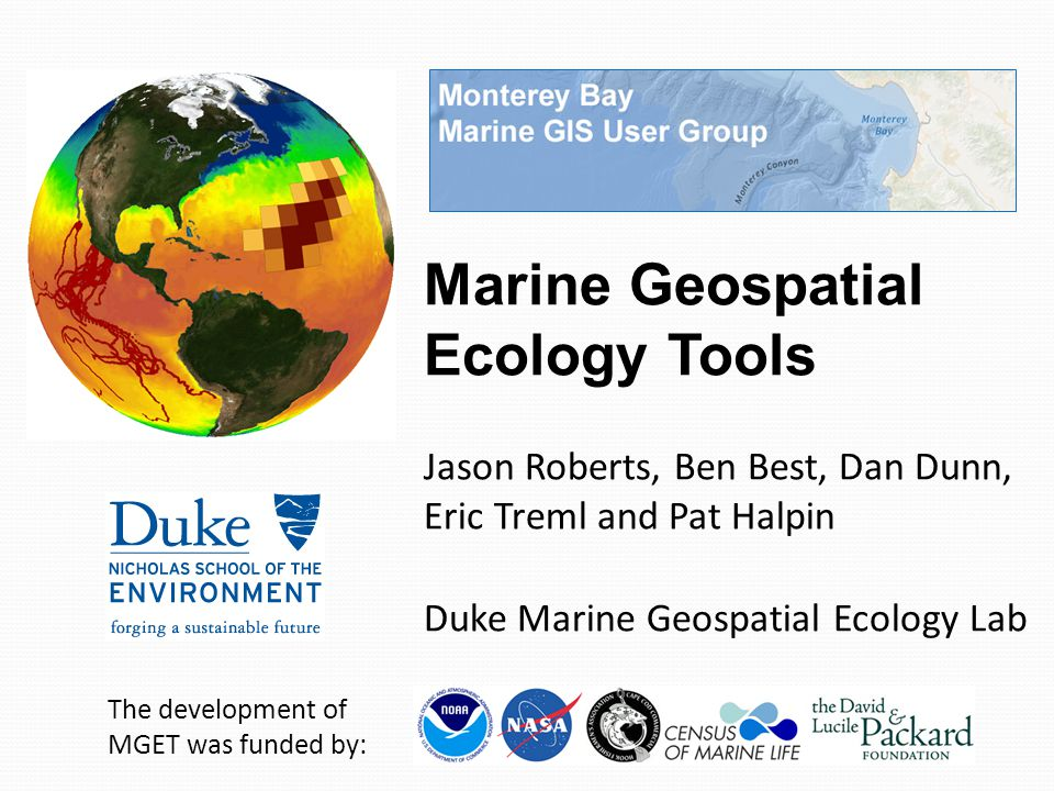 Marine Geospatial Ecology Tools