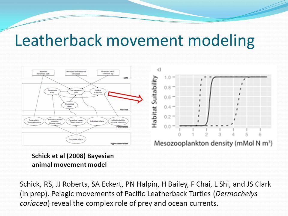 Leatherback movement modeling