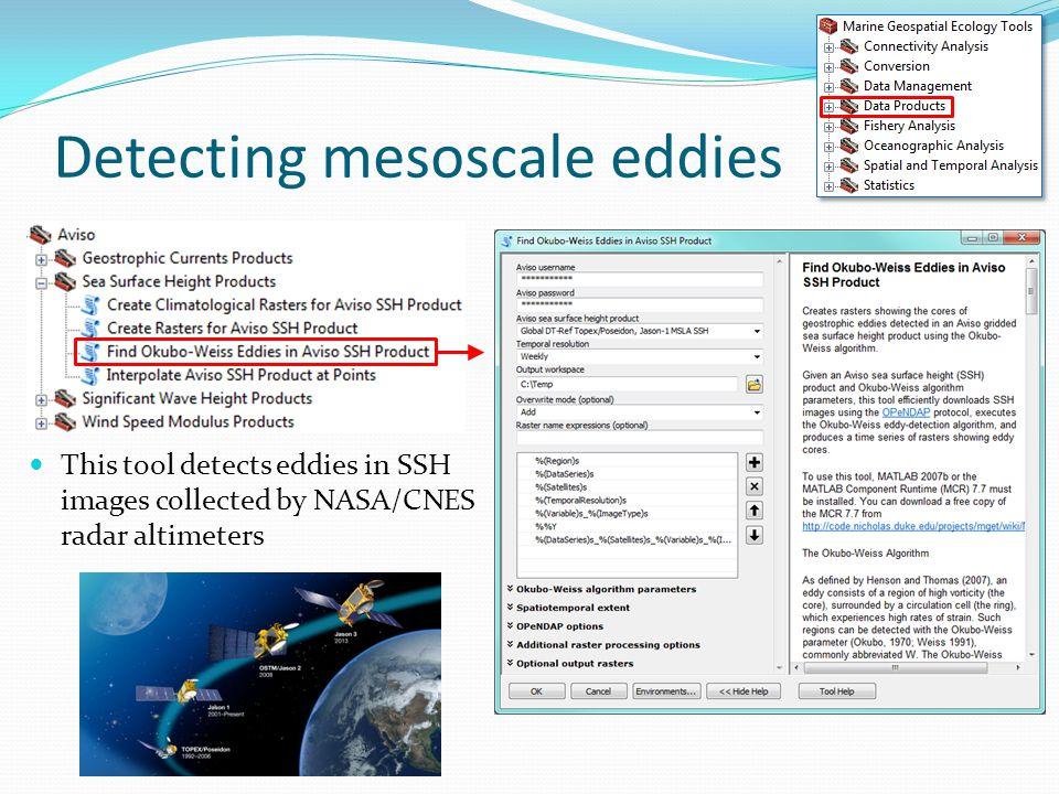 Detecting mesoscale eddies