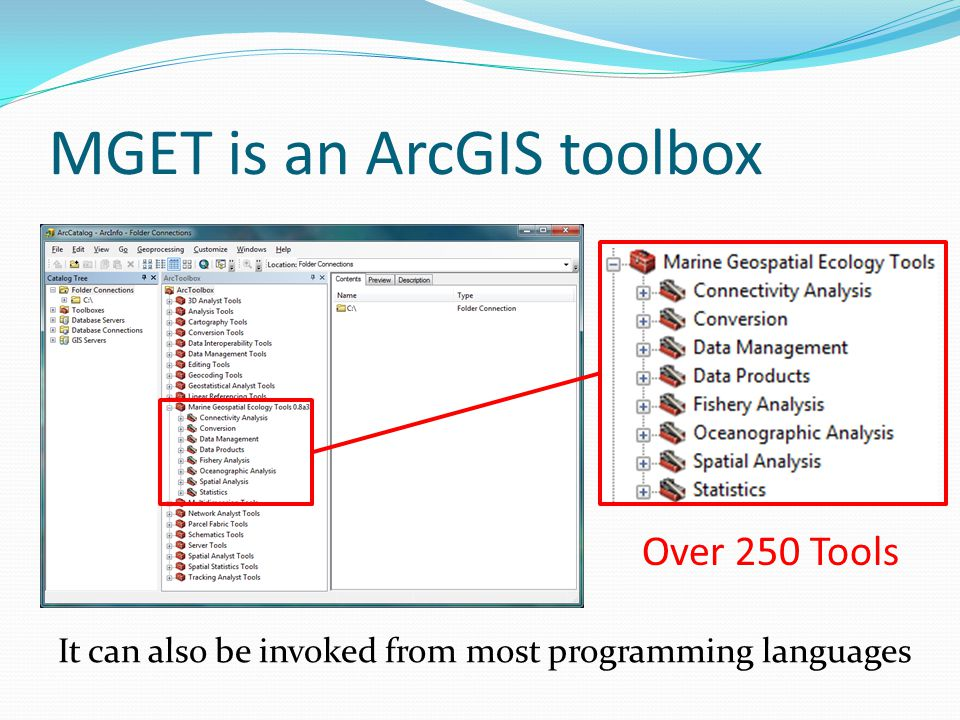 MGET is an ArcGIS toolbox