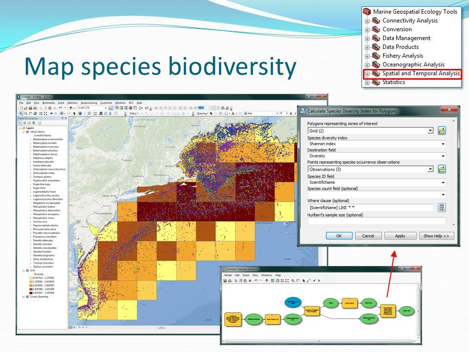 Map species biodiversity