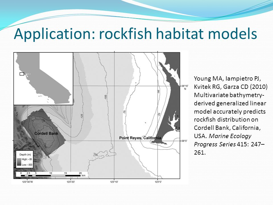 Application: rockfish habitat models