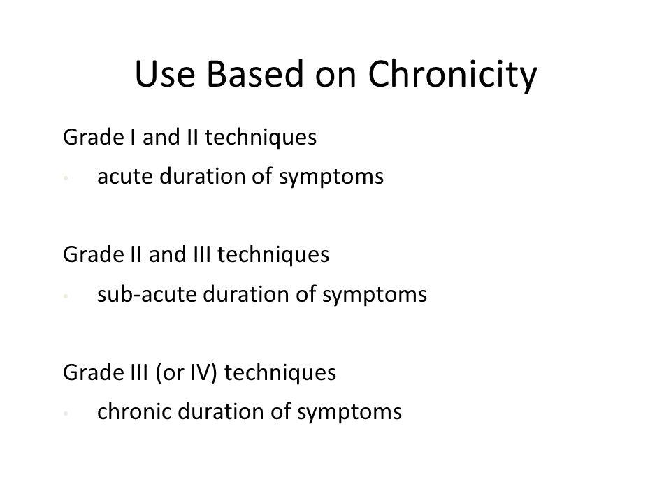 Use Based on Chronicity