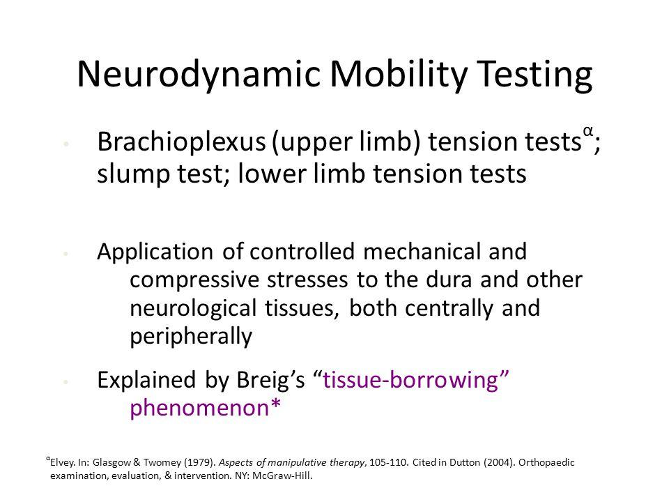 Neurodynamic Mobility Testing