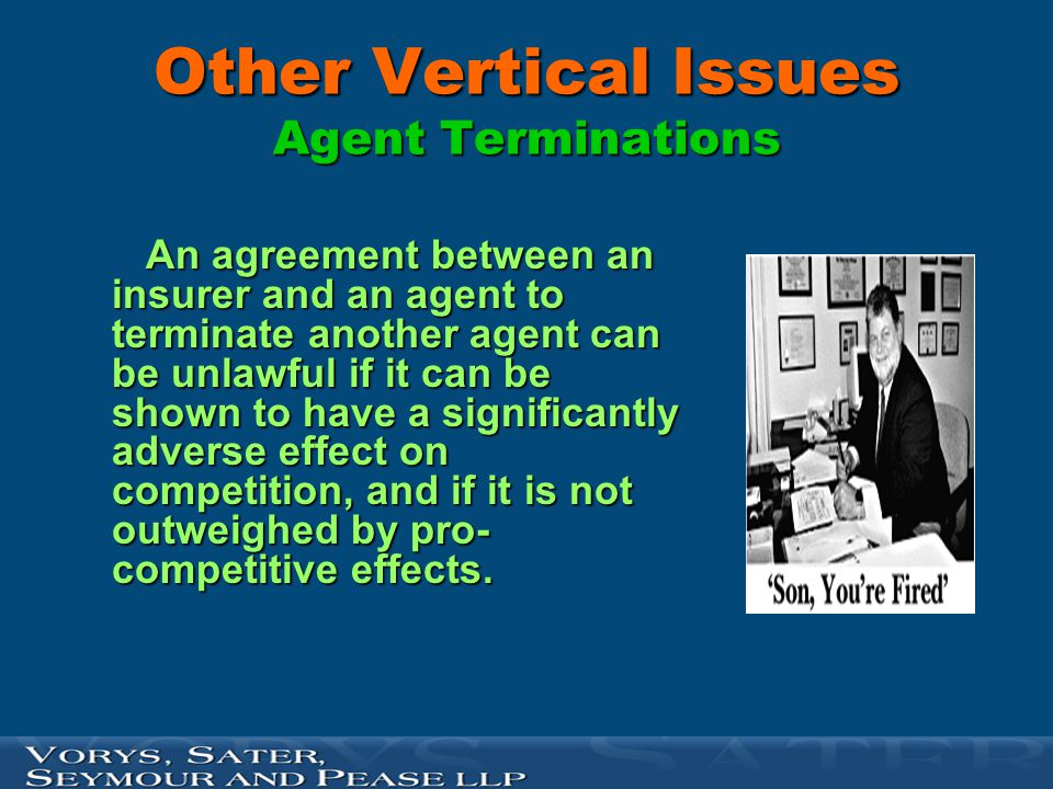 Other Vertical Issues Agent Terminations