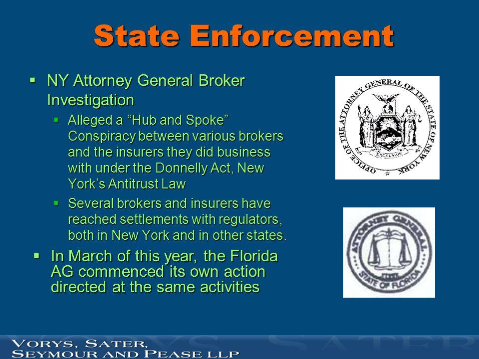 State Enforcement NY Attorney General Broker Investigation