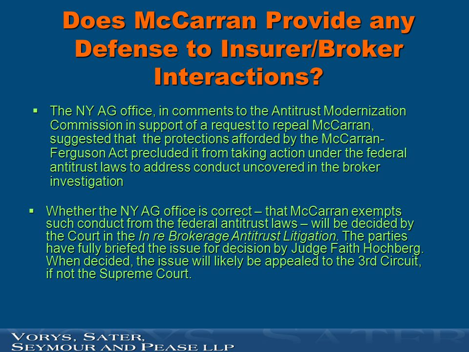 Does McCarran Provide any Defense to Insurer/Broker Interactions