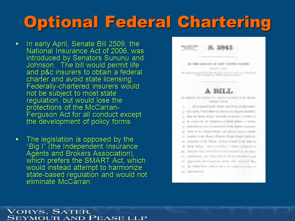 Optional Federal Chartering