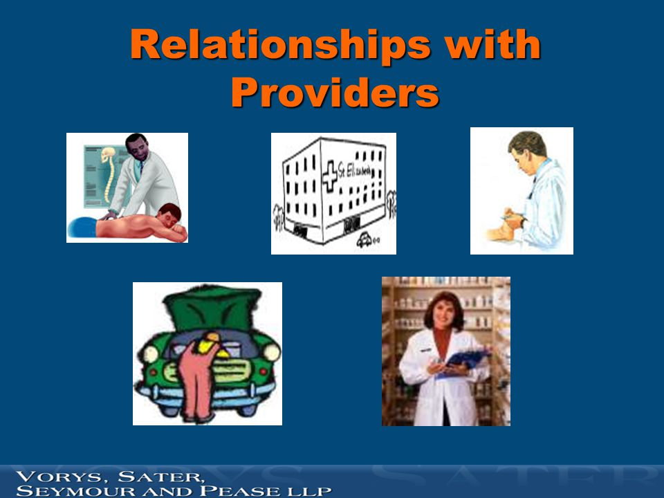 Relationships with Providers