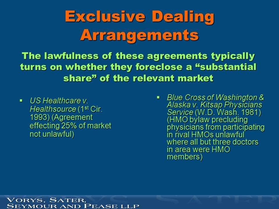Exclusive Dealing Arrangements