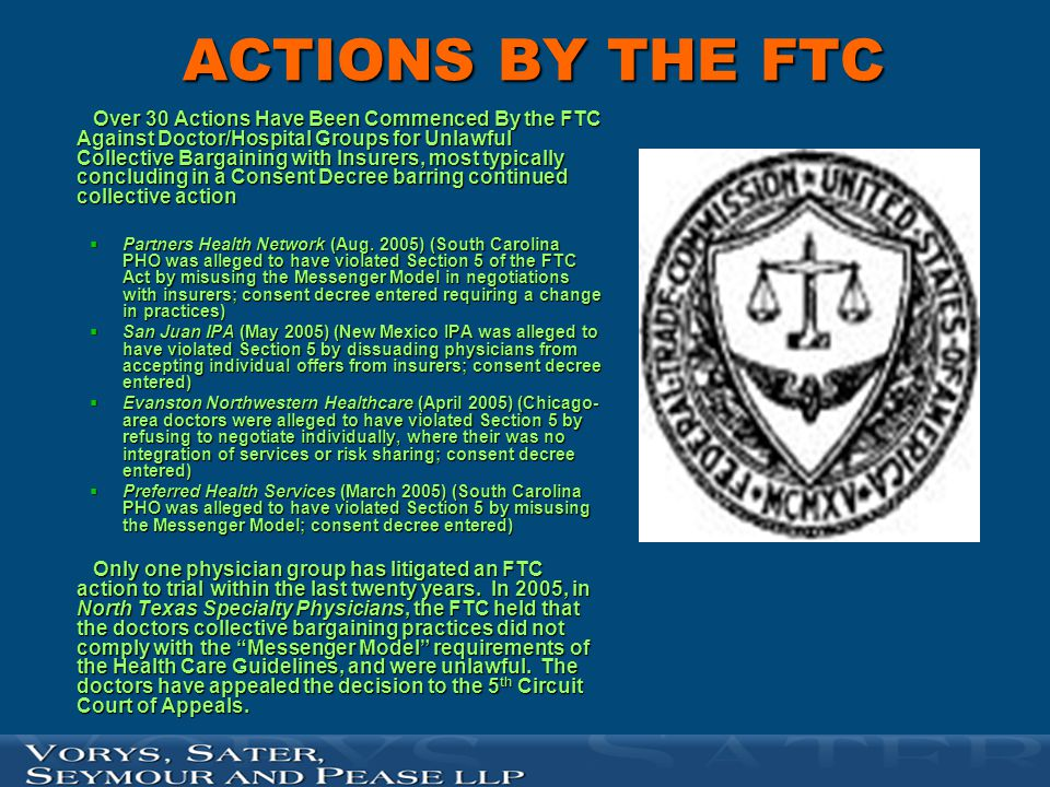 ACTIONS BY THE FTC