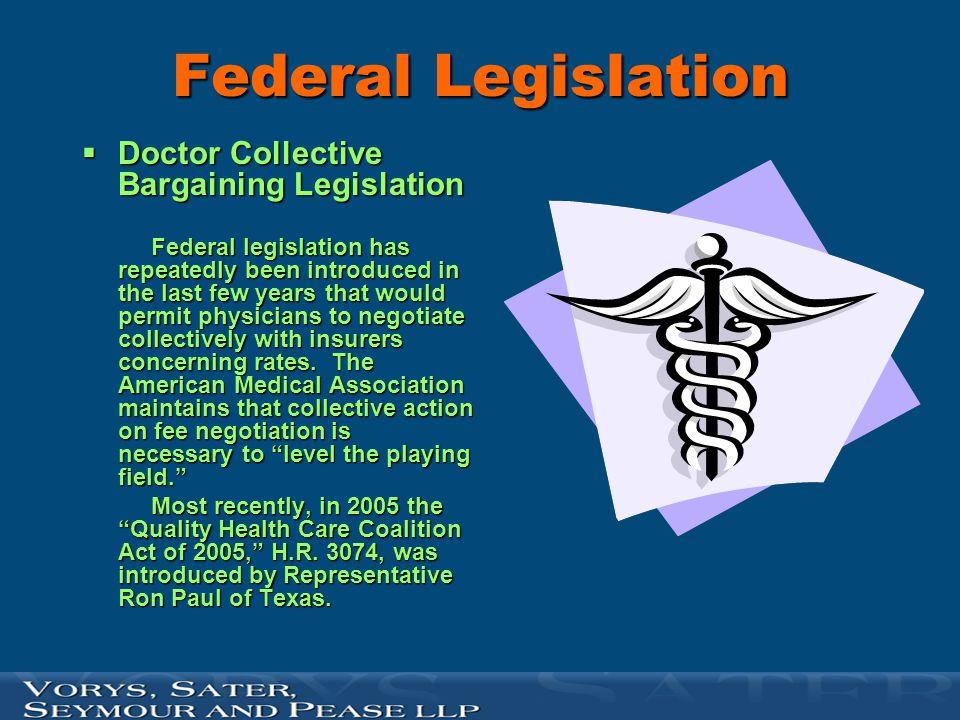 Federal Legislation Doctor Collective Bargaining Legislation