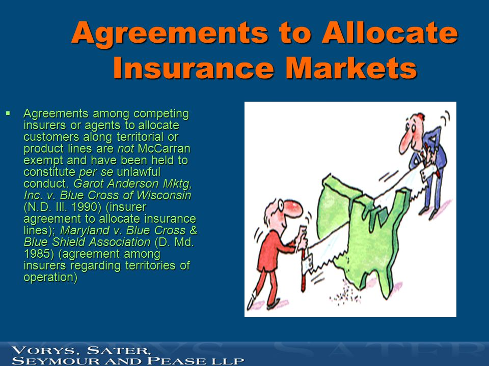 Agreements to Allocate Insurance Markets