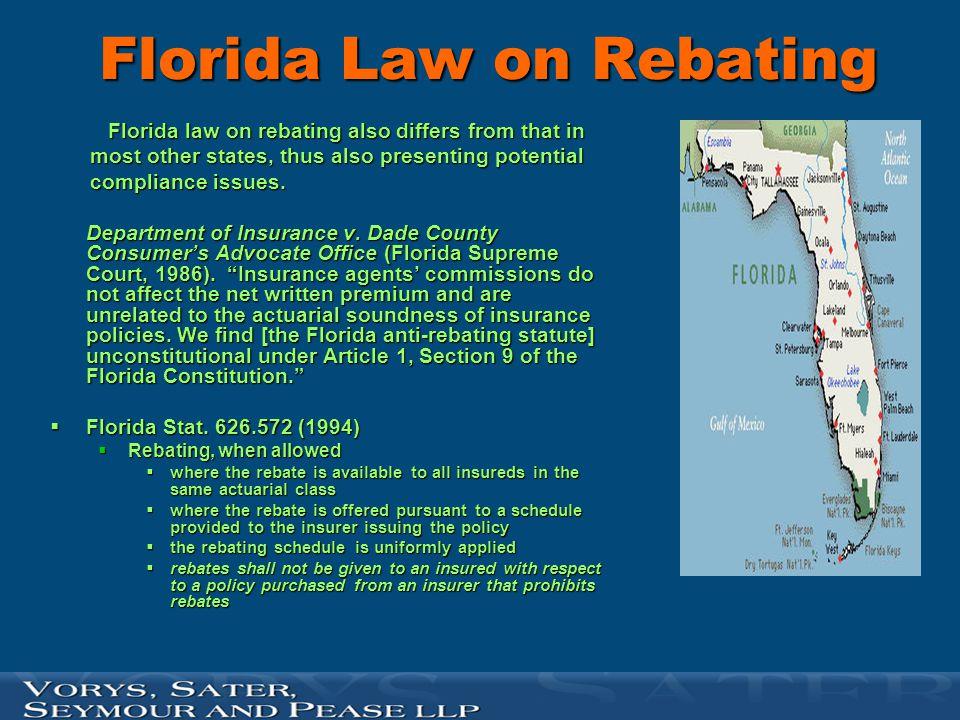 Florida Law on Rebating