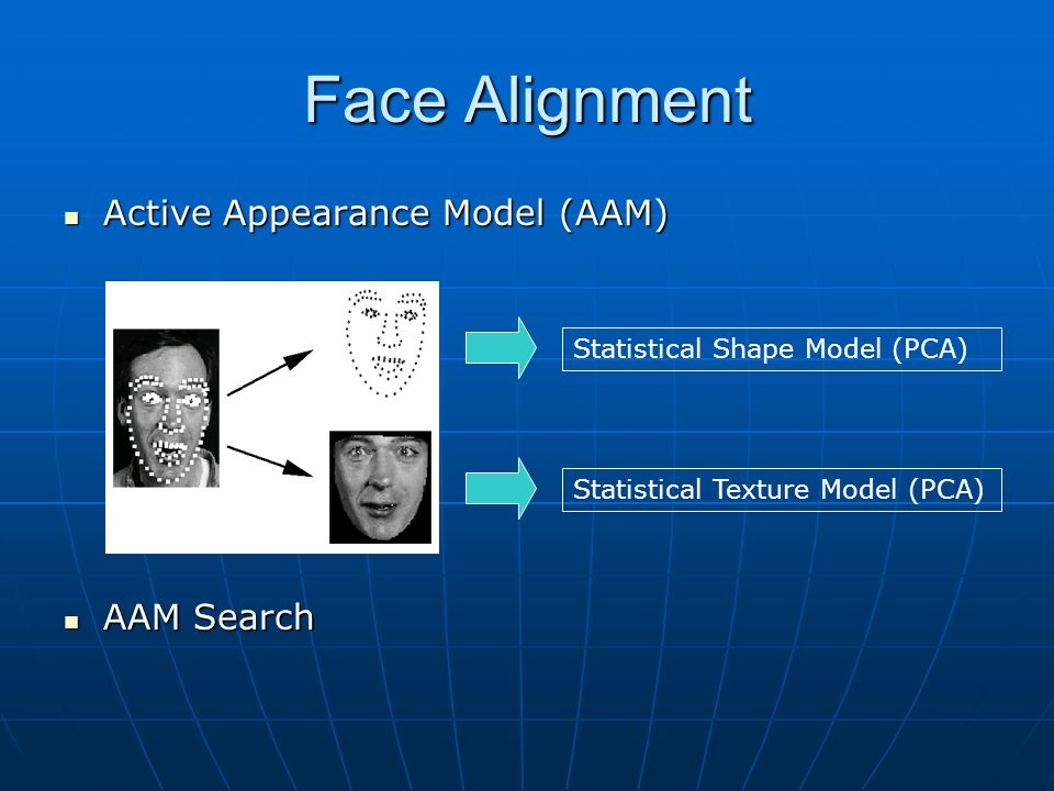 Face Alignment Active Appearance Model (AAM) AAM Search
