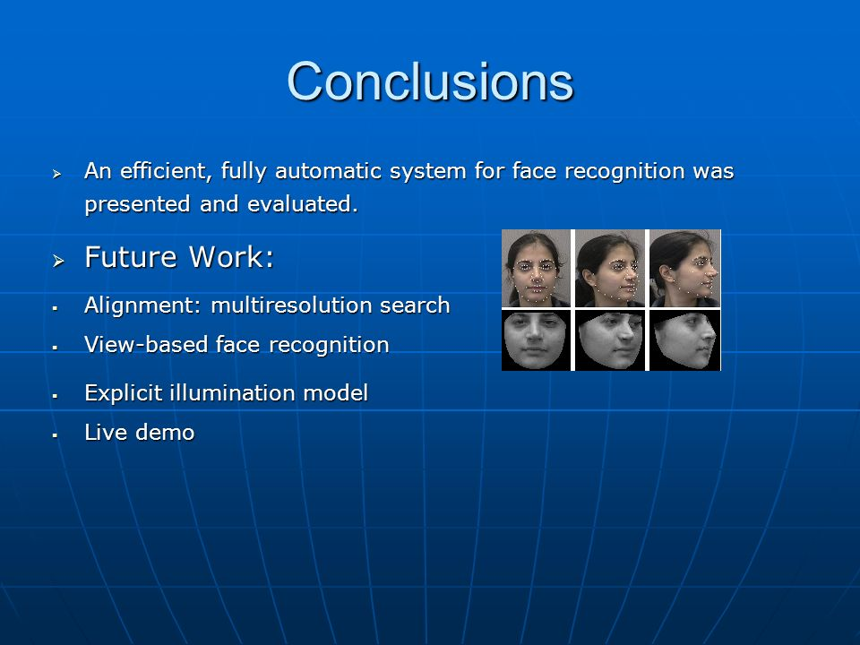 Conclusions Future Work: