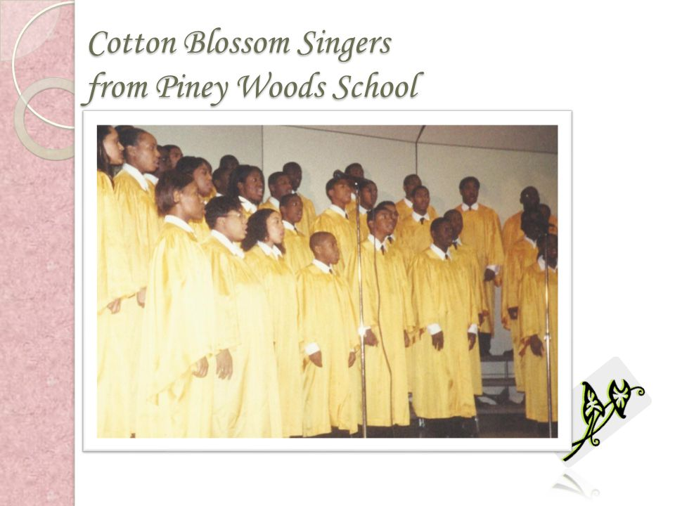 Cotton Blossom Singers from Piney Woods School