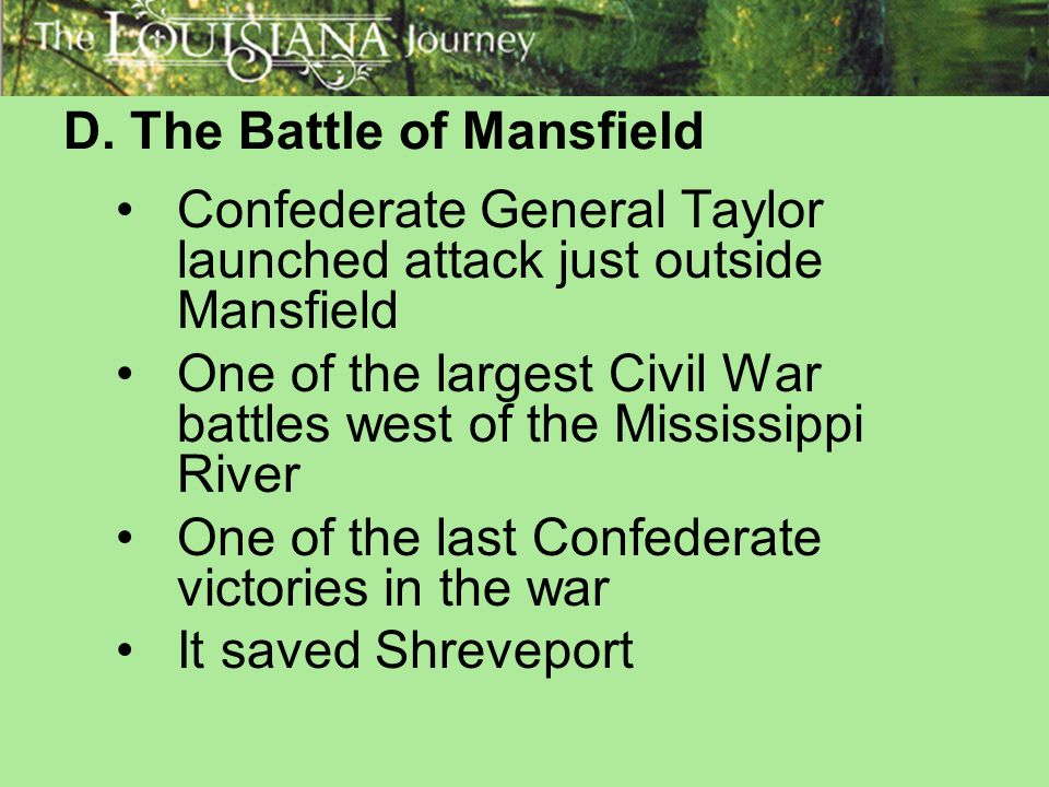 D. The Battle of Mansfield