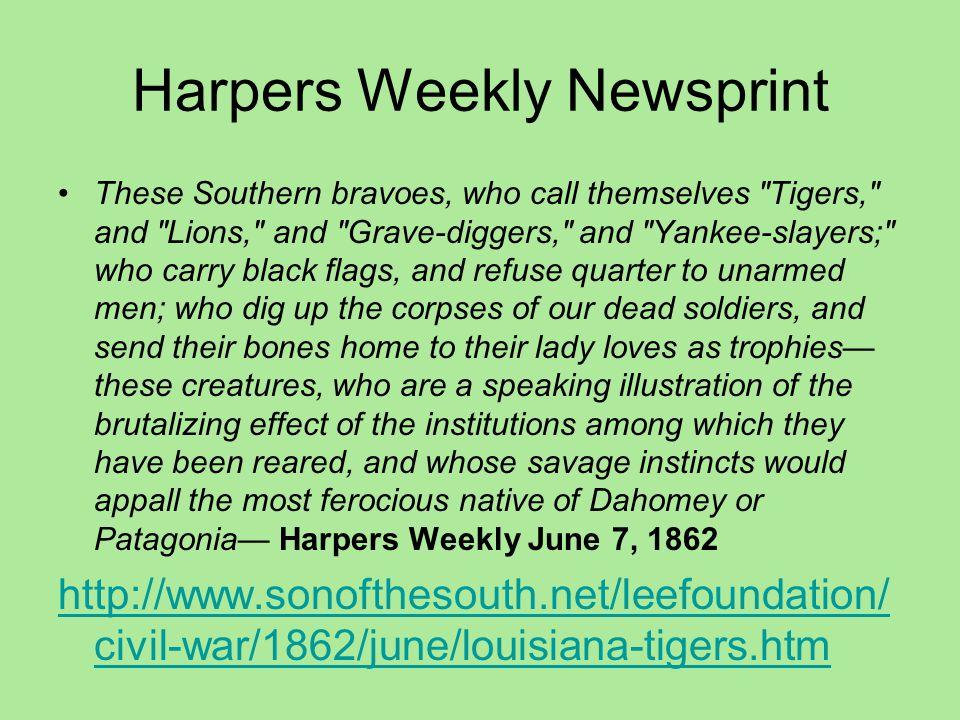 Harpers Weekly Newsprint