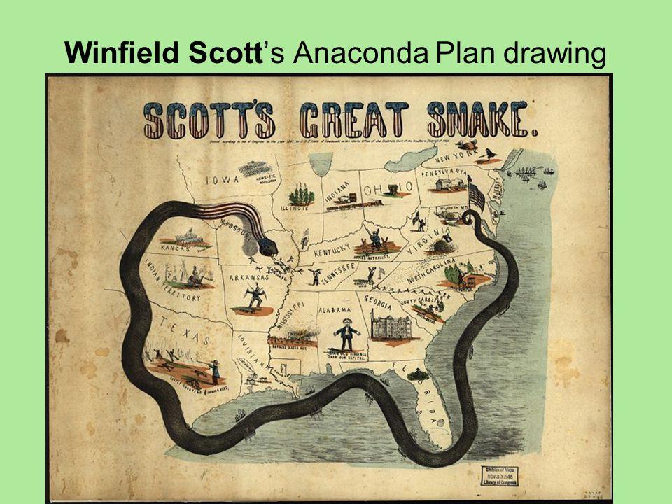 Winfield Scott's Anaconda Plan drawing