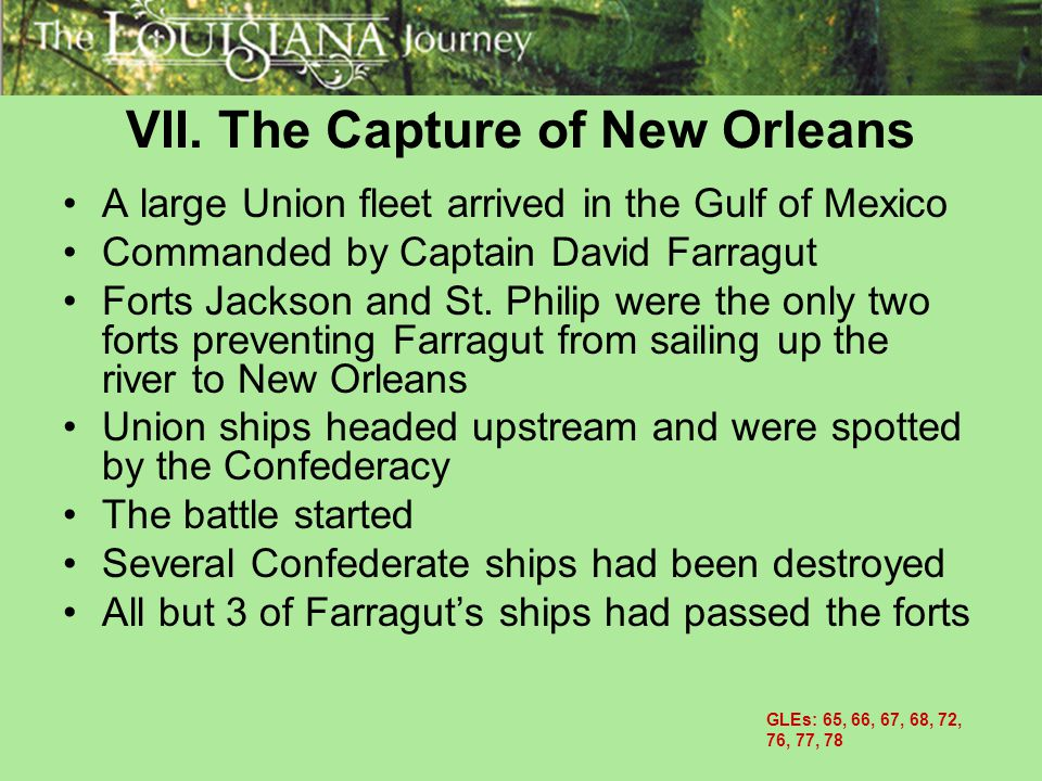VII. The Capture of New Orleans