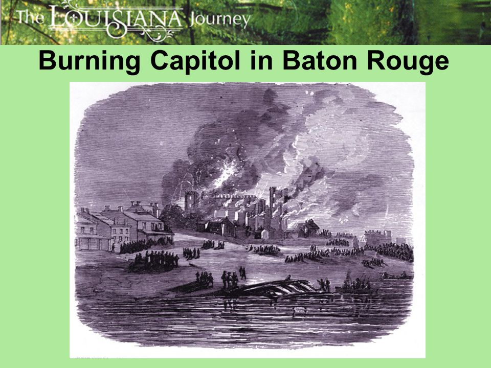 Burning Capitol in Baton Rouge
