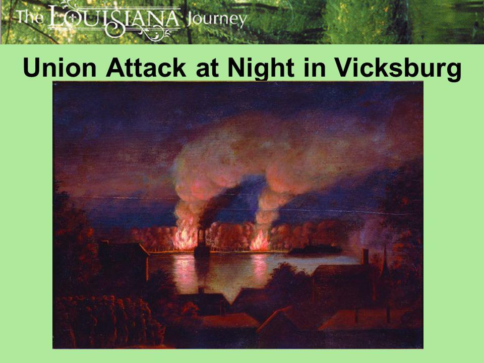Union Attack at Night in Vicksburg