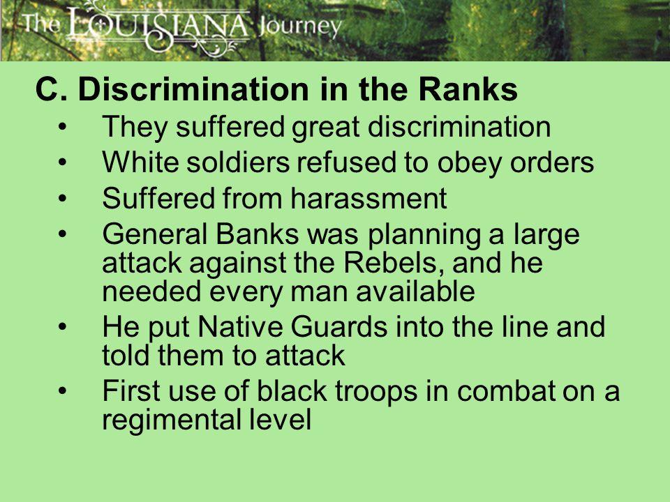 C. Discrimination in the Ranks