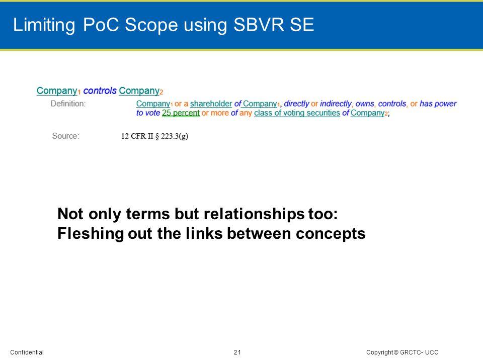Limiting PoC Scope using SBVR SE