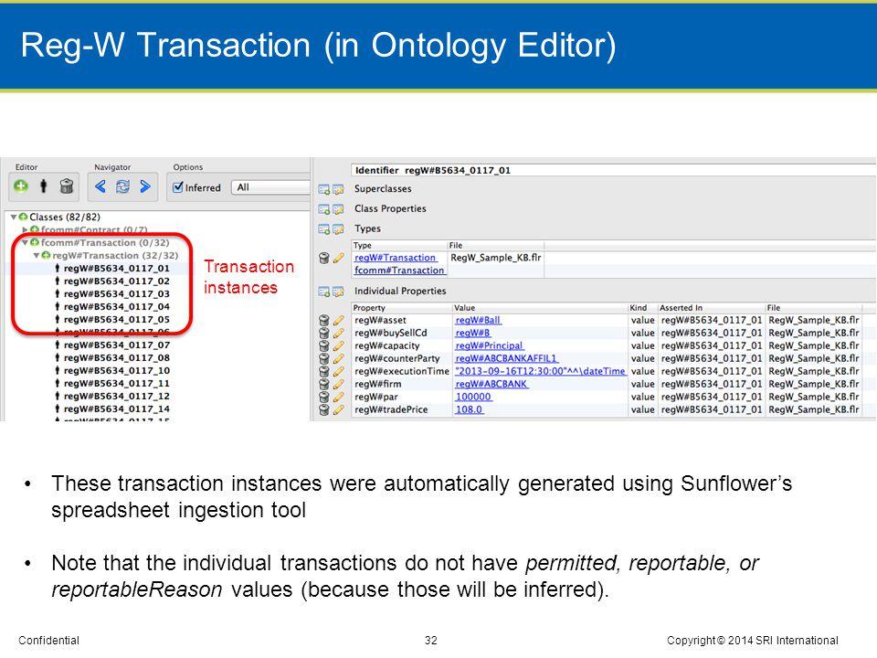 Reg-W Transaction (in Ontology Editor)
