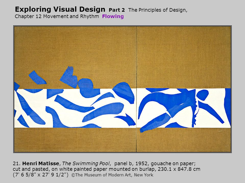 Exploring Visual Design Part 2 The Principles of Design, Chapter 12 Movement and Rhythm Flowing
