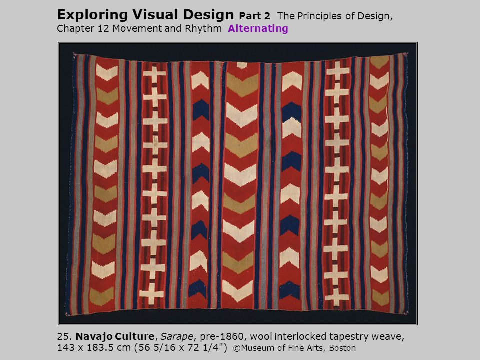 Exploring Visual Design Part 2 The Principles of Design, Chapter 12 Movement and Rhythm Alternating