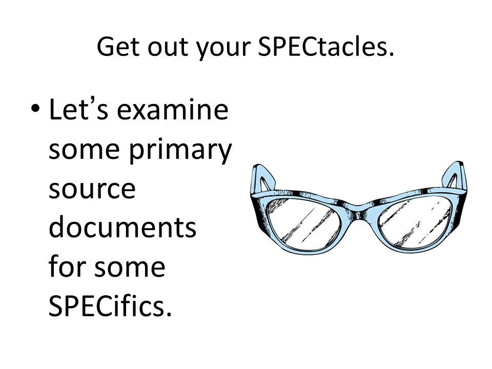 Get out your SPECtacles.