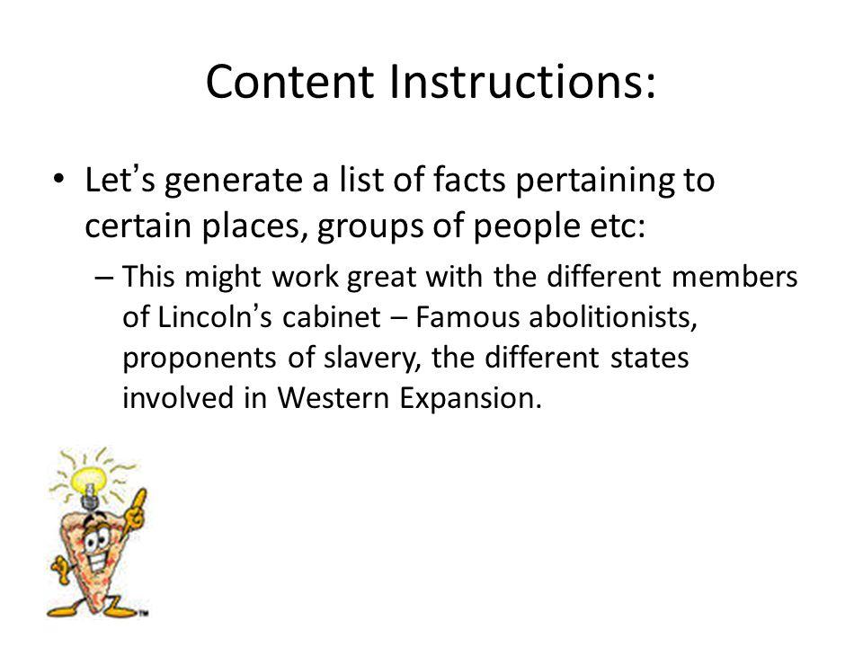 Content Instructions: