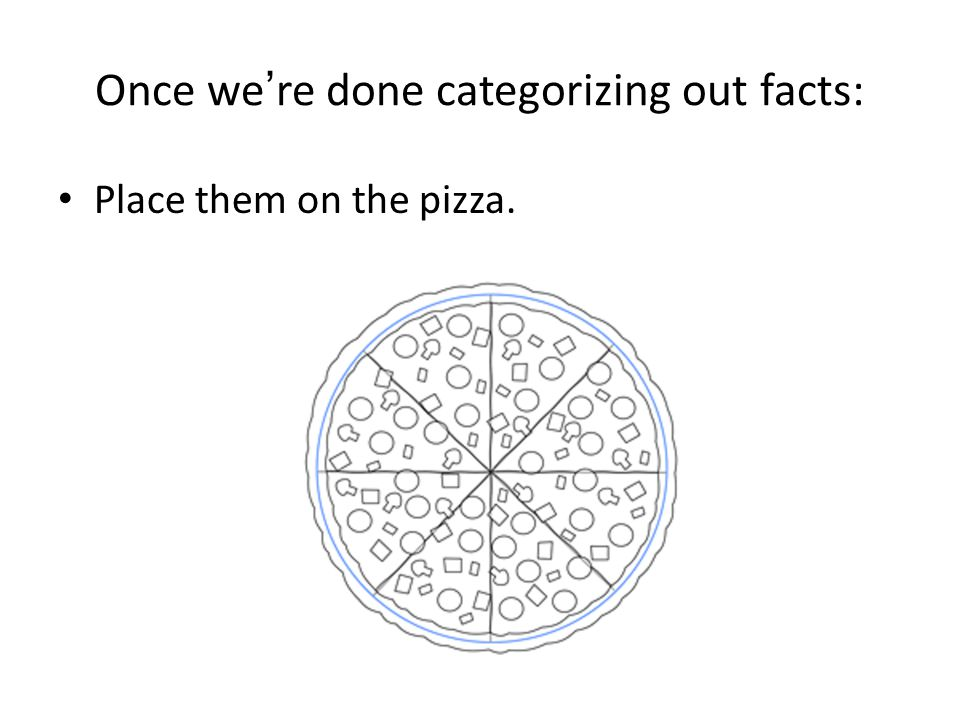 Once we're done categorizing out facts: